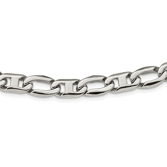 Stainless Steel Anchor Links 24in Necklace