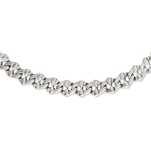 Stainless Steel Polished Thick Link 24in Necklace