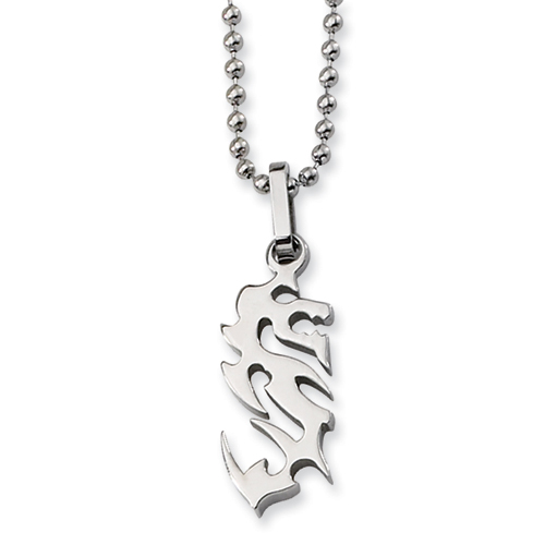 1 1/4in Stainless Steel Polished Necklace 22in