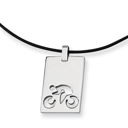 18in Polished Necklace - Stainless Steel