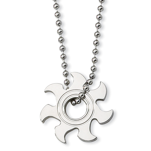 22in Stainless Steel Saw Blade Necklace