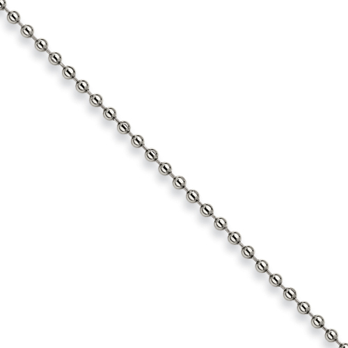 24in Stainless Steel Bead Chain 3.0mm