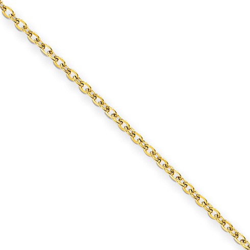 22in Stainless Steel Gold-Plated Cable Chain 2.3mm