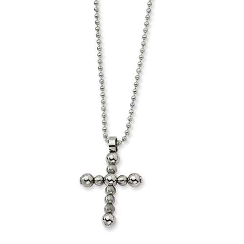 Stainless Steel Cross Necklace 22in