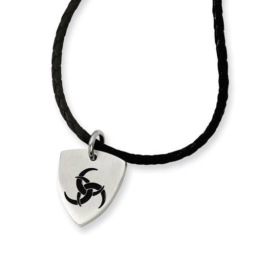 Stainless Steel Enameled Necklace 18in - Clearance