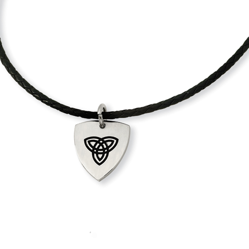 Stainless Steel Trinity 18in Necklace - Clearance