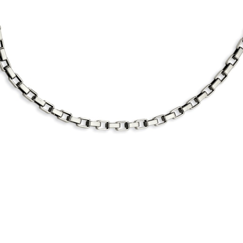 Stainless Steel Link Necklace 22in