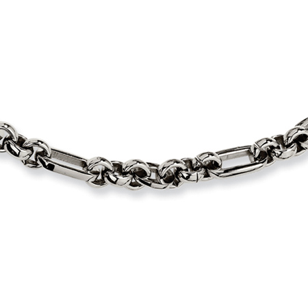 20in Stainless Steel Fancy Link Necklace