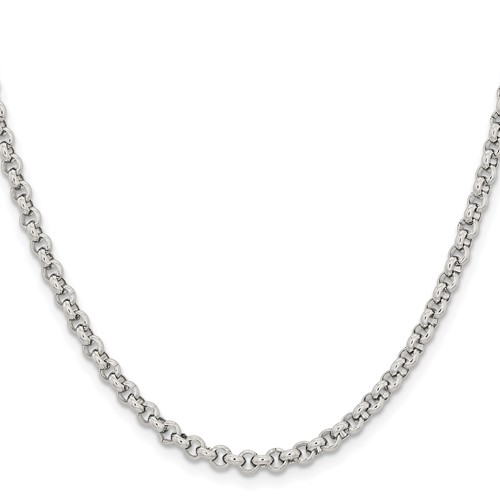18in Stainless Steel Rolo Chain 3.9mm