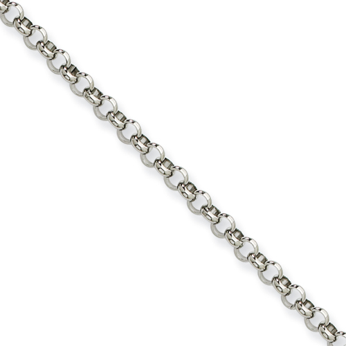 24in Stainless Steel Rolo Chain 4.6mm