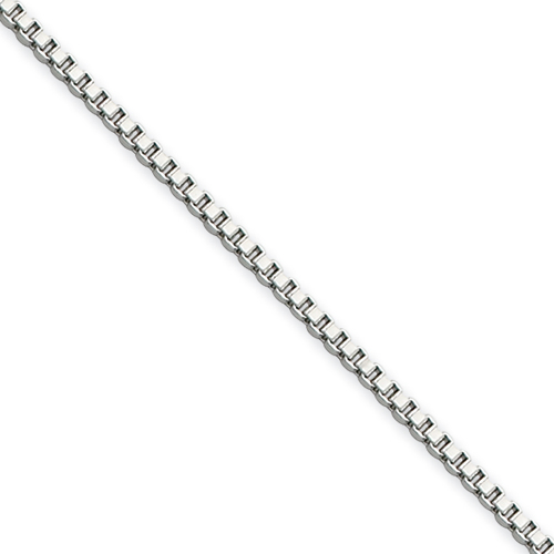 18in Stainless Steel Box Chain 1.5mm