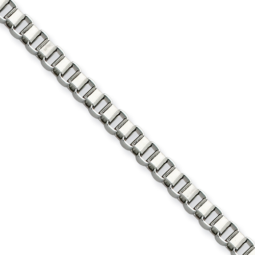 30in Stainless Steel Box Chain 3.2mm