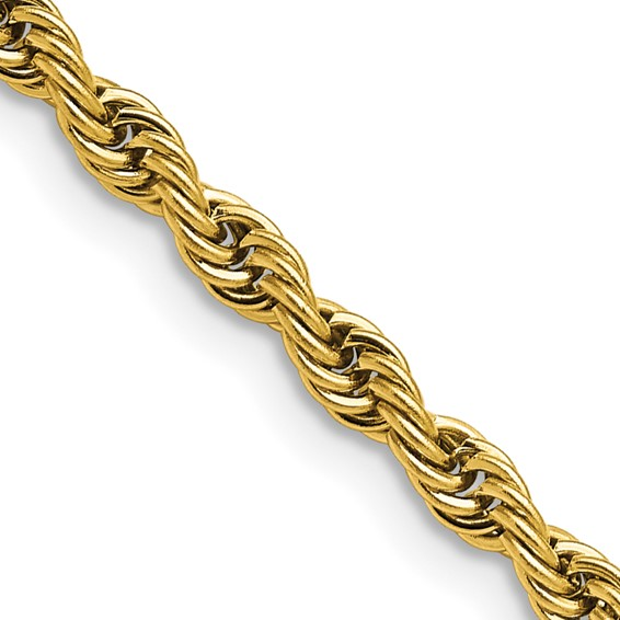 22in Stainless Steel Gold-Plated Rope Chain 4mm
