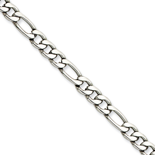 18in Stainless Steel Figaro Chain 5.3mm
