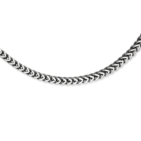 24in Stainless Steel Light Wheat Polished Link Necklace