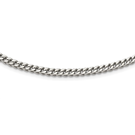 24in Stainless Steel Franco Link Chain
