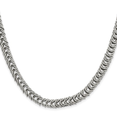 18in Stainless Steel Fancy Link Necklace