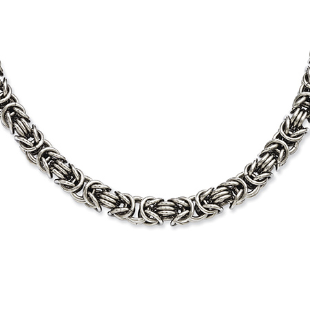 Stainless Steel Fancy Link 20in Necklace