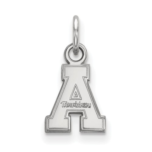 Appalachian State University Charm 3/8in Sterling Silver