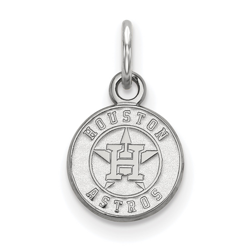 Sterling Silver 3/8in Round Houston Astros Pendant