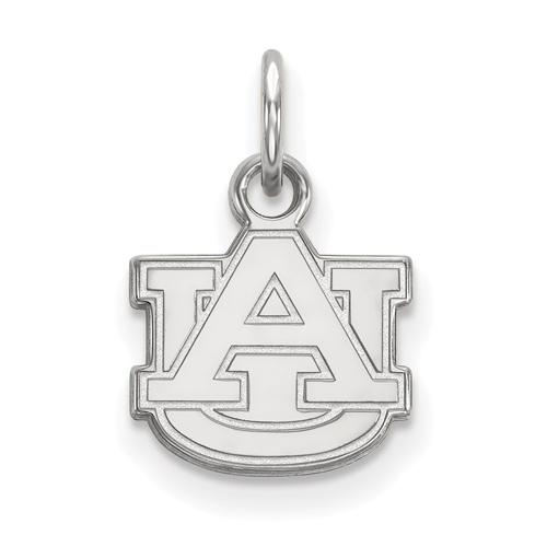 Sterling Silver 3/8in Auburn University AU Pendant
