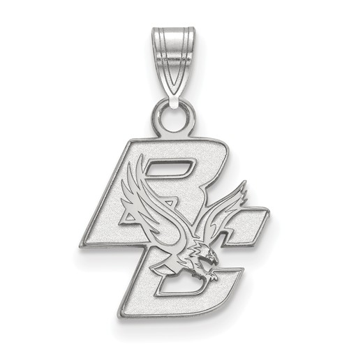 14k White Gold Boston College Logo Charm 1/2in