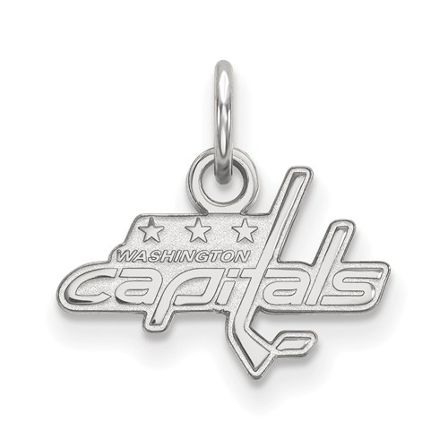 14k White Gold 3/8in Washington Capitals Logo Charm