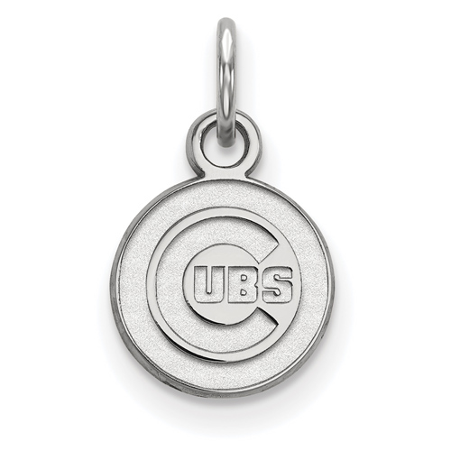 Sterling Silver 3/8in Chicago Cubs Pendant