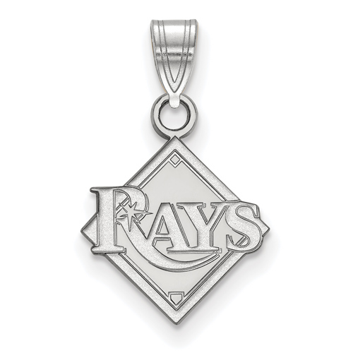 10k White Gold 1/2in Tampa Bay Rays Logo Pendant