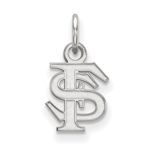 Sterling Silver 1/4in Florida State University FS Pendant