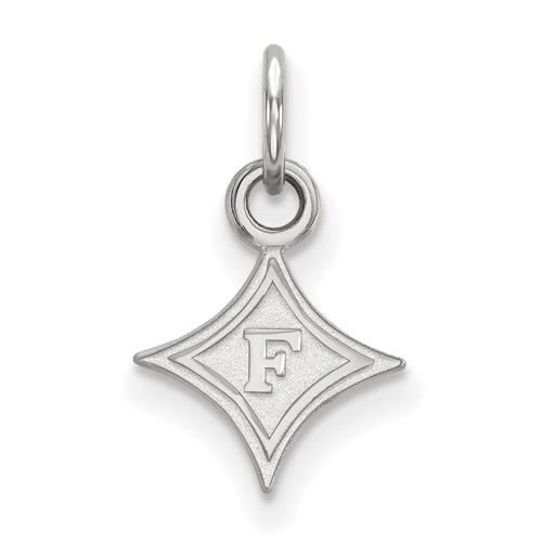 Sterling Silver 3/8in Furman University Diamond Logo Charm