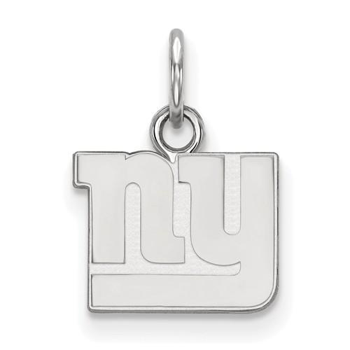 14k White Gold 1/2in New York Giants Logo Charm
