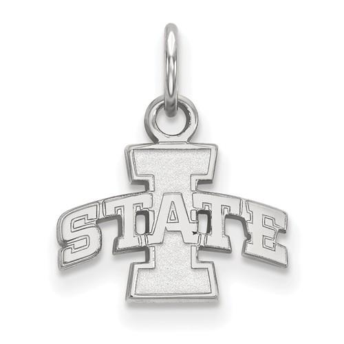 Iowa State University Logo Charm 3/8in Sterling Silver