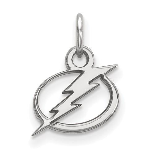 10k White Gold 3/8in Tampa Bay Lightning Logo Charm
