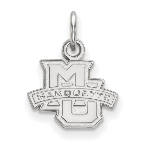 Marquette University Logo Charm 1/2in Sterling Silver