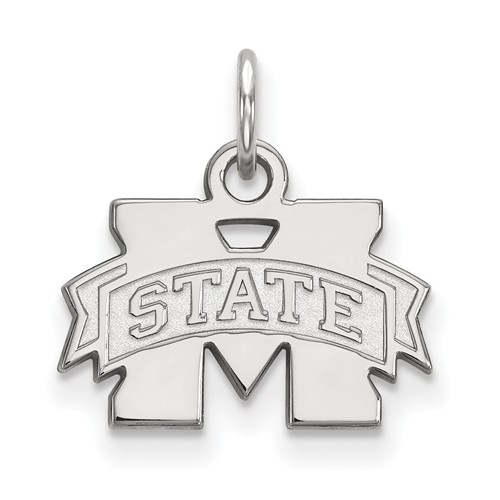 Mississippi State University Charm 3/8in Sterling Silver