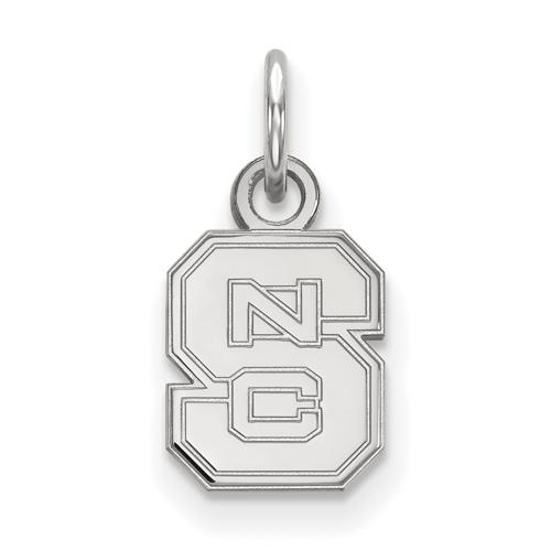 Sterling Silver 3/8in North Carolina State University Block S Pendant