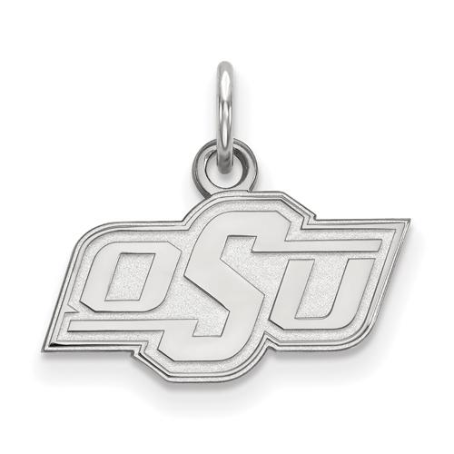 Sterling Silver 3/8in Oklahoma State University OSU Pendant