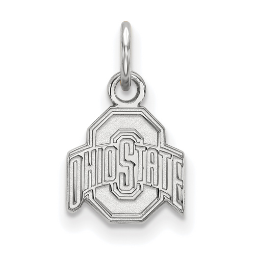 Sterling Silver 3/8in Ohio State University Logo Pendant