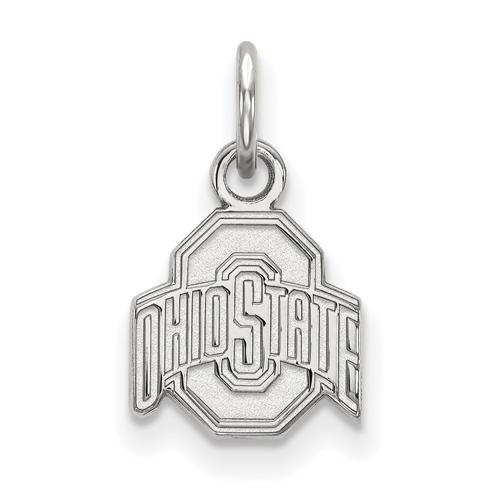 Sterling Silver 3/8in Ohio State University Logo Pendant