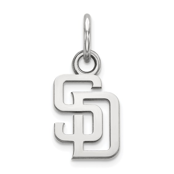 Sterling Silver 3/8in San Diego Padres SD Pendant