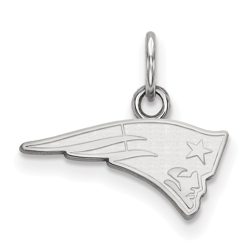 Sterling Silver 5/8in New England Patriots Logo Charm