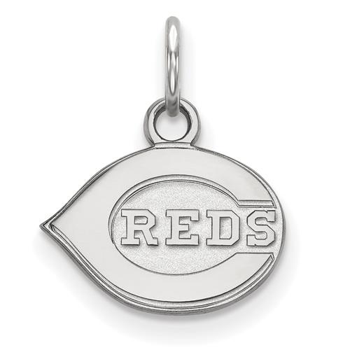 Sterling Silver 3/8in Cincinnati Reds Logo Pendant