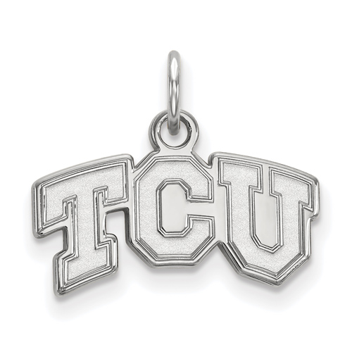 Sterling Silver 3/8in Texas Christian University TCU Pendant