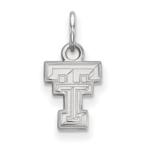 Sterling Silver 3/8in Texas Tech University Pendant
