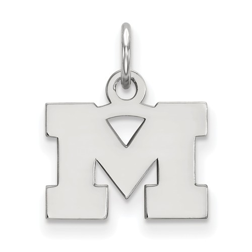 Sterling Silver 3/8in University of Michigan M Pendant