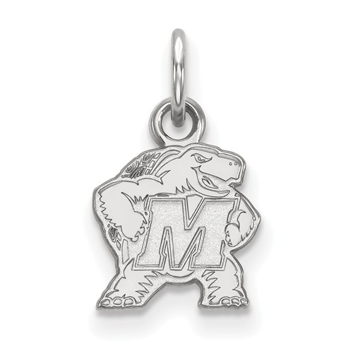 Sterling Silver 3/8in University of Maryland Logo Charm