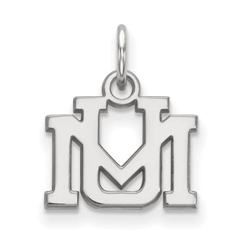 14k White Gold 3/8in University of Montana Charm