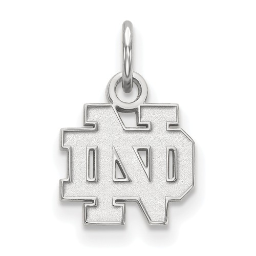 Sterling Silver 3/8in University of Notre Dame ND Pendant