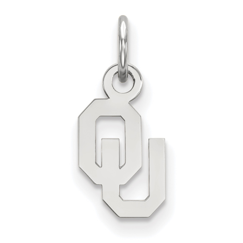 Sterling Silver 3/8in University of Oklahoma Pendant
